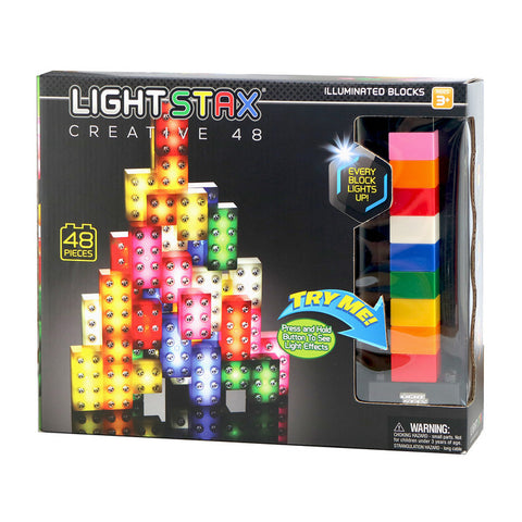 Light Stax Illuminated Building Blocks Creative Design 48 Pieces