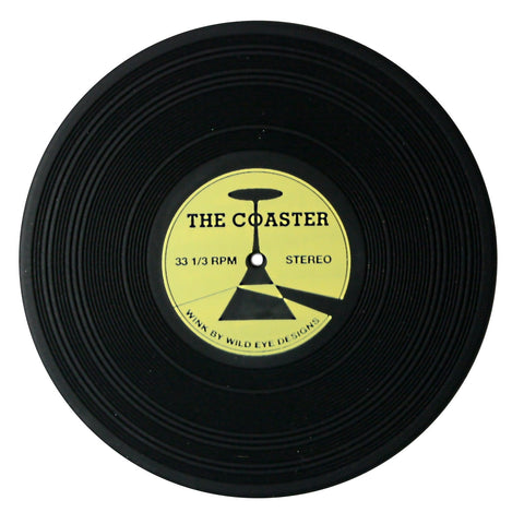 Dark Side of The Coaster - Vinyl Record Style Silicone Coasters, Set of 2