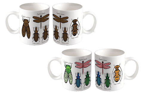 Thermochromatic Bug/Insect Entomology Color Changing Coffee Mug