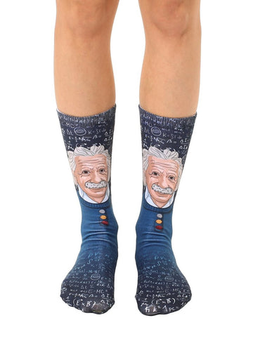 Einstein Crew Socks OSFM by Living Royal