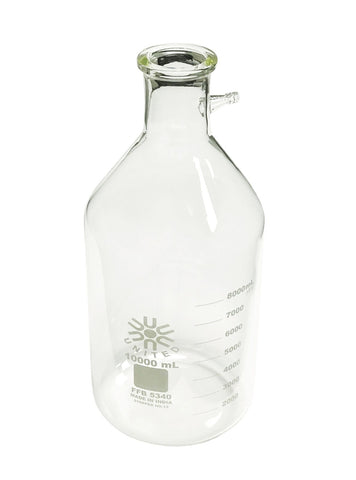 Filtering Bottle, 10L Capacity, Heavy Wall Borosilicate Glass by United Scientific