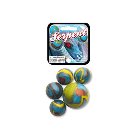 Serpent Game Net Set 25 Pc Glass Mega Marbles