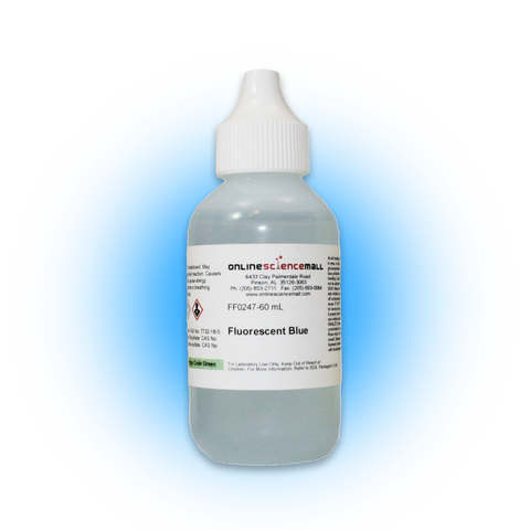 0.5% Fluorescent Blue Dye, Aqueous Solution (Quinine Sulfate), 60mL - Chemical Reagent