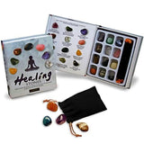 Healing Stones - Set of 12 Polished Energy Stones and Pouch