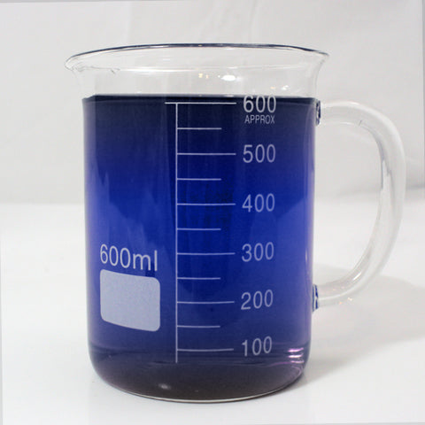 600ml Glass Beaker Mug with Spout - Single Scale
