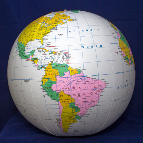 "16"" Inflatable Blue Political Globe"