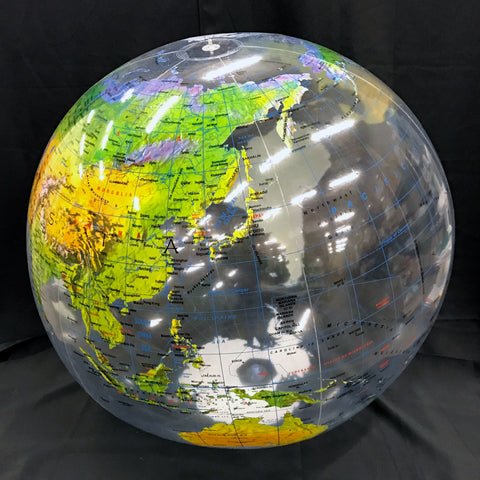 "16"" Inflatable Clear Topographical Globe"