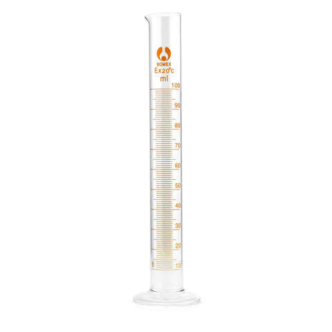 Borosilicate Bomex Glass Graduated Cylinder: 100ml