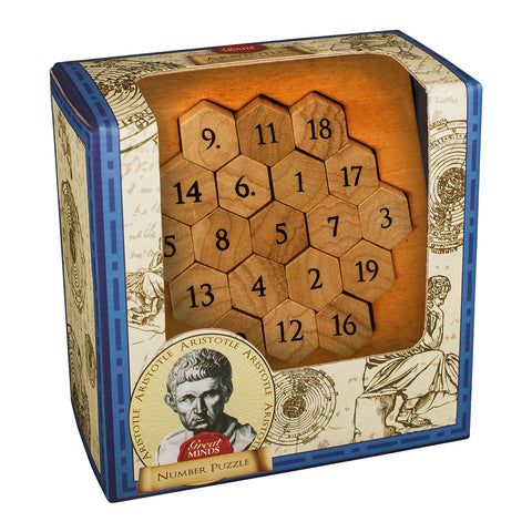 Great Minds Aristotle's Number Puzzle Brainteaser by Professor Puzzle