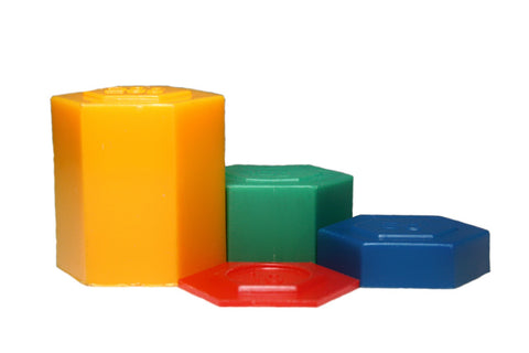 Plastic Hex Weight Set: 54 Pieces