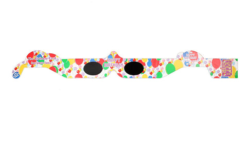 Birthday Happy Eyes Holographic Lens Glasses Quantity Discount