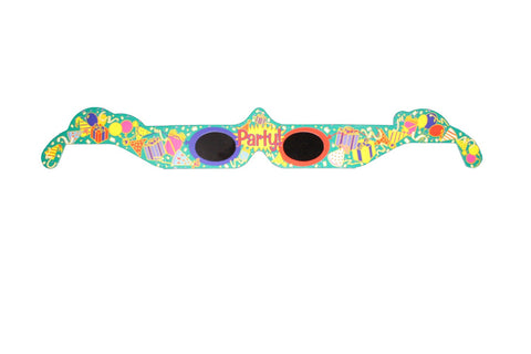 3D Holographic Glasses: See PARTY at Any Bright Point of Light-Pack of 10