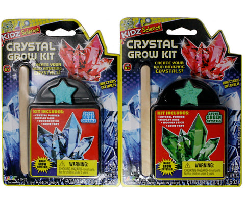 Magic Crystal Growing Kit - Set of 2, Green and Blue Crystals
