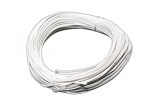22-Gauge White Plastic Insulated Copper Wire - 100 Feet