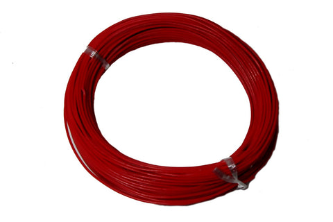 22-Gauge Red Plastic Insulated Copper Wire - 100 Feet