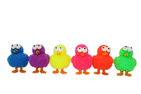 Set of 4 Light Up Silicone Squishy Ducklings - Colors Vary
