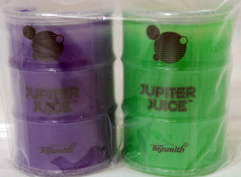 Jupiter Juice Slime Pack of 2- Neon Purple and Neon Green Ooze
