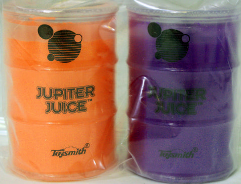 Jupiter Juice Slime Pack of 2- Neon Purple and Neon Orange Ooze