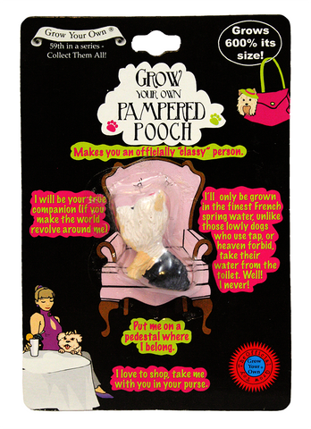 Grow Your Own PAMPERED POOCH Collectible Magic Growing Dog