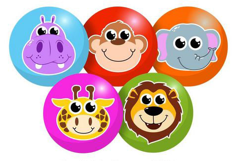 Mega Fun Baby Zoo Friends PVC Inflated Play Balls - Pack of 2 (Styles Vary)