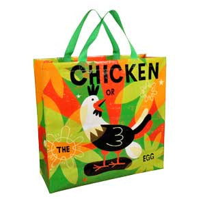 Chicken or The Egg Shopper Bag Two Straps Popular Design