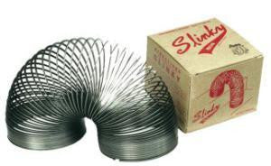 Collectors Edition Black Metal Slinky Classic Toy