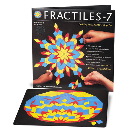 Fractiles 7 - Magnetic 192 Piece Set with Black Steel Activity Board