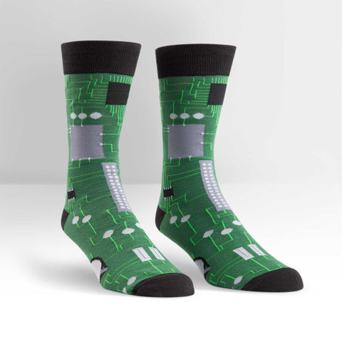 Sock It To Me Circuit Board Men's Crew Socks