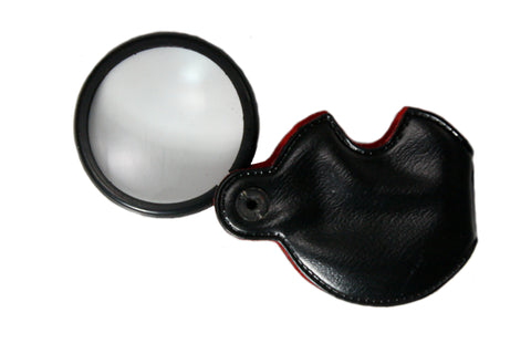 Pocket Magnifier Lens: 2.5X Single Lense Pouch
