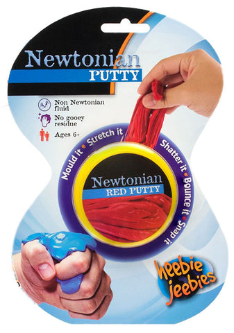Red Newtonian Putty - Dilatant Non-Newtonian Fluid