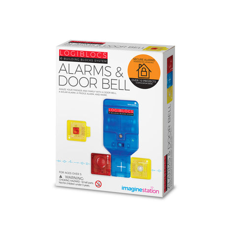 Logiblocs e-Building Blocks System Alarms & Door Bell Kit by 4M