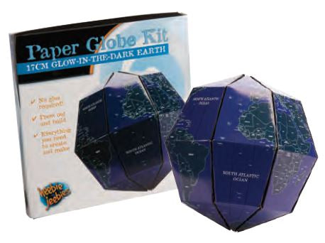 17cm Glowing Earth Paper Globe Activity Kit