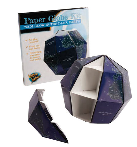 25cm Glowing Earth Paper Globe Activity Kit