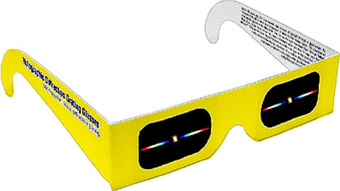 Rainbow Glasses Linear Diffraction Gratings Pack (1) Yellow Frame