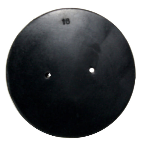 Rubber Stopper: Size 16, 2-Hole