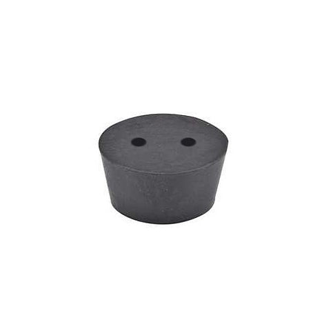 United Scientific Supplies RST14-H2 2-Hole Rubber Stopper, #14 Size