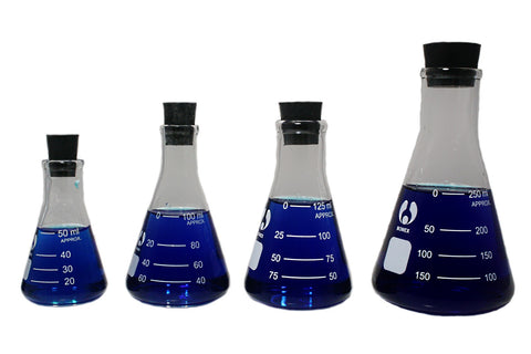 4 Erlenmeyer Glass Flask Set  50 100 125 250mL