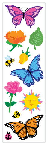 Mrs Grossman's Stickers - Butterflies and Flowers