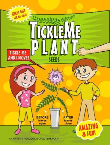 Tickle Me Ticklish Plant Seed Packet