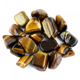 Tiger's Eye Polished Mineral Gemstone Rocks 3/4 to 1-1/2 Inch - Pack of 50