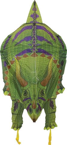 WindnSun DinoSoars Triceratops Nylon Kite - 48 Inches Dinosaur Kite