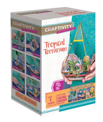 Creativity for Kids- Tropical Terrarium Kit - By Faber-Castell