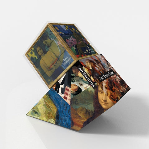 Art Emotions Gauguin V-Cube 3 Puzzle Cube, with Flat Sides