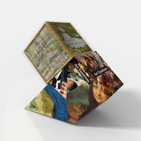 Art Emotions Monet V-Cube 3 Puzzle Cube, with Flat Sides