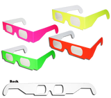 3D Fireworks Glasses Neon Multi-Starbursts of 3D Color One Pair