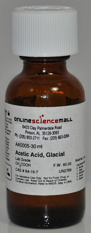 Acetic Acid, 30mL - Chemical Reagent