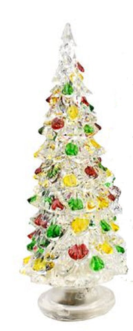 Crystal Acrylic LED Christmas Tree - 7.75 Inches