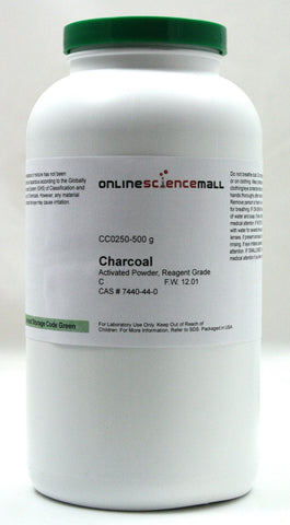 Activated Charcoal Powder, 500g - Reagent Grade Decolorizing Carbon, Chemical Reagent