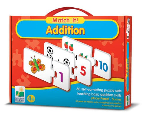 Match It! ADDITION Math Activity-30 Puzzle Pairs