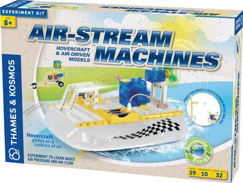 Air-Stream Hovercraft & Air-Driven Machines Experiment Kit By Thames & Kosmos
